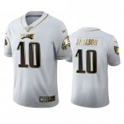 Wholesale Cheap Philadelphia Eagles #10 Desean Jackson Men's Nike White Golden Edition Vapor Limited NFL 100 Jersey