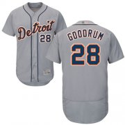 Wholesale Cheap Tigers #28 Niko Goodrum Grey Flexbase Authentic Collection Stitched MLB Jersey