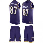 Wholesale Cheap Nike Ravens #87 Maxx Williams Purple Team Color Men's Stitched NFL Limited Tank Top Suit Jersey