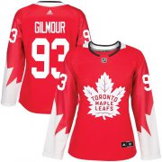 Wholesale Cheap Adidas Maple Leafs #93 Doug Gilmour Red Team Canada Authentic Women's Stitched NHL Jersey