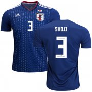 Wholesale Cheap Japan #3 Shoji Home Soccer Country Jersey