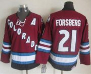 Wholesale Cheap Avalanche #21 Peter Forsberg Red CCM Throwback Stitched NHL Jersey