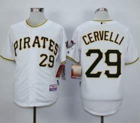 Wholesale Cheap Pirates #29 Francisco Cervelli White Cool Base Stitched MLB Jersey