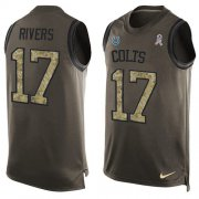 Wholesale Cheap Nike Colts #17 Philip Rivers Green Men's Stitched NFL Limited Salute To Service Tank Top Jersey