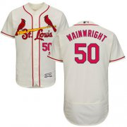 Wholesale Cheap Cardinals #50 Adam Wainwright Cream Flexbase Authentic Collection Stitched MLB Jersey