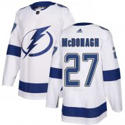 Cheap Adidas Lightning #27 Ryan McDonagh White Road Authentic Stitched Youth NHL Jersey