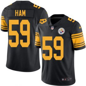 Wholesale Cheap Nike Steelers #59 Jack Ham Black Men\'s Stitched NFL Limited Rush Jersey