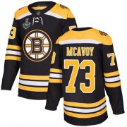 Wholesale Cheap Adidas Bruins #73 Charlie McAvoy Black Home Authentic Stanley Cup Final Bound Stitched NHL Jersey