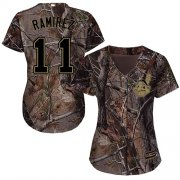 Wholesale Cheap Indians #11 Jose Ramirez Camo Realtree Collection Cool Base Women's Stitched MLB Jersey