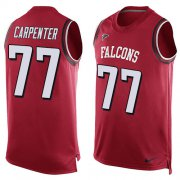 Wholesale Cheap Nike Falcons #77 James Carpenter Red Team Color Men's Stitched NFL Limited Tank Top Jersey