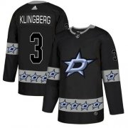 Wholesale Cheap Adidas Stars #3 John Klingberg Black Authentic Team Logo Fashion Stitched NHL Jersey