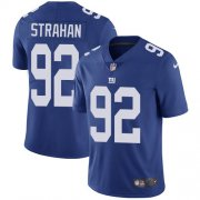 Wholesale Cheap Nike Giants #92 Michael Strahan Royal Blue Team Color Men's Stitched NFL Vapor Untouchable Limited Jersey