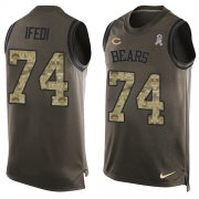Wholesale Cheap Nike Bears #74 Germain Ifedi Green Men's Stitched NFL Limited Salute To Service Tank Top Jersey