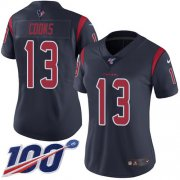 Wholesale Cheap Nike Texans #13 Brandin Cooks Navy Blue Women's Stitched NFL Limited Rush 100th Season Jersey
