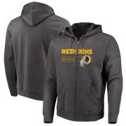 Wholesale Cheap Washington Redskins Majestic Hyper Stack Full-Zip Hoodie Heathered Charcoal
