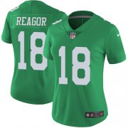 Wholesale Cheap Nike Eagles #18 Jalen Reagor Green Women's Stitched NFL Limited Rush Jersey