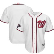 Wholesale Cheap Washington Nationals Majestic 2019 World Series Champions Home Cool Base Patch Jersey White