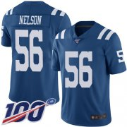 Wholesale Cheap Nike Colts #56 Quenton Nelson Royal Blue Men's Stitched NFL Limited Rush 100th Season Jersey