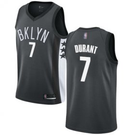 Wholesale Cheap Nets #7 Kevin Durant Gray Basketball Swingman Statement Edition Jersey