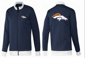 Wholesale Cheap NFL Denver Broncos Team Logo Jacket Dark Blue_1