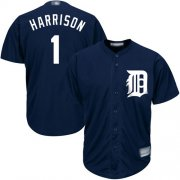 Wholesale Cheap Tigers #1 Josh Harrison Navy Blue New Cool Base Stitched MLB Jersey