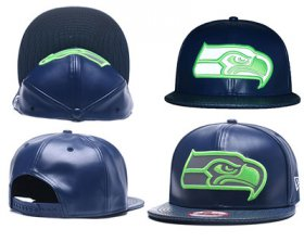Wholesale Cheap NFL Seahawks Seahawks Team Logo Navy Reflective Adjustable Hat A26