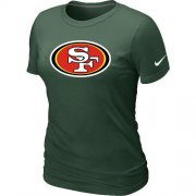 Wholesale Cheap Women's Nike San Francisco 49ers Logo NFL T-Shirt Dark Green