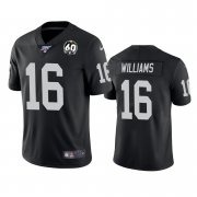 Wholesale Cheap Nike Raiders #16 Tyrell Williams Black 60th Anniversary Vapor Limited Stitched NFL 100th Season Jersey