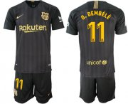 Wholesale Cheap Barcelona #11 O.Dembele Black Soccer Club Jersey