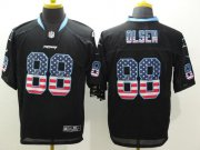 Wholesale Nike Panthers #88 Greg Olsen Black Men's Stitched NFL Elite USA Flag Fashion Jersey