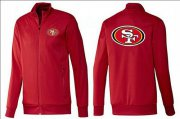 Wholesale Cheap NFL San Francisco 49ers Team Logo Jacket Red_1