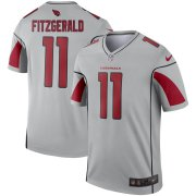 Wholesale Cheap Arizona Cardinals #11 Larry Fitzgerald Nike Inverted Legend Jersey Silver