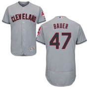 Wholesale Cheap Indians #47 Trevor Bauer Grey Flexbase Authentic Collection Stitched MLB Jersey