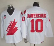Wholesale Cheap Olympic 1991 CA. #10 Dale Hawerchuk White CCM Throwback Stitched NHL Jersey