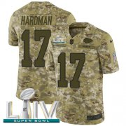 Wholesale Cheap Nike Chiefs #17 Mecole Hardman Camo Super Bowl LIV 2020 Youth Stitched NFL Limited 2018 Salute To Service Jersey
