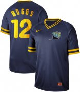 Wholesale Cheap Nike Rays #12 Wade Boggs Navy Authentic Cooperstown Collection Stitched MLB Jersey
