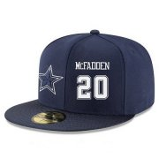 Wholesale Cheap Dallas Cowboys #20 Darren McFadden Snapback Cap NFL Player Navy Blue with White Number Stitched Hat