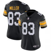 Wholesale Cheap Nike Steelers #83 Heath Miller Black Alternate Women's Stitched NFL Vapor Untouchable Limited Jersey