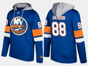 Wholesale Cheap Islanders #88 Brandon Davidson Blue Name And Number Hoodie