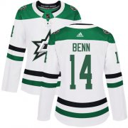 Wholesale Cheap Adidas Stars #14 Jamie Benn White Road Authentic Women's Stitched NHL Jersey