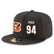 Wholesale Cheap Cincinnati Bengals #94 Domata Peko Snapback Cap NFL Player Black with White Number Stitched Hat