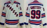 Wholesale Cheap Rangers #99 Wayne Gretzky White CCM Throwback Stitched Youth NHL Jersey