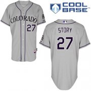 Wholesale Cheap Rockies #27 Trevor Story Grey Cool Base Stitched Youth MLB Jersey