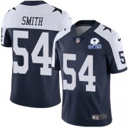 Wholesale Cheap Nike Cowboys #54 Jaylon Smith Navy Blue Thanksgiving Men's Stitched With Established In 1960 Patch NFL Vapor Untouchable Limited Throwback Jersey