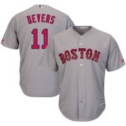 Wholesale Cheap Boston Red Sox #11 Rafael Devers Majestic Road Official Cool Base Player Jersey Gray