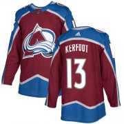 Wholesale Cheap Adidas Avalanche #13 Alexander Kerfoot Burgundy Home Authentic Stitched NHL Jersey