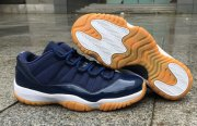 Wholesale Cheap Air Jordan 11 Navy Gum Low Dark Blue/White Khaki