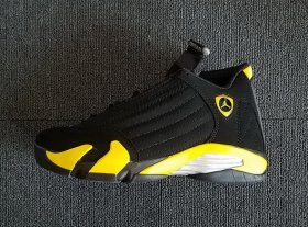 Wholesale Cheap Womens Air Jordan 14 Thunder Black/Yellow