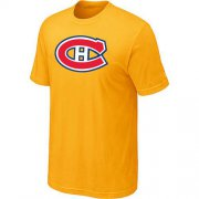 Wholesale Cheap Montreal Canadiens Big & Tall Logo Yellow NHL T-Shirt