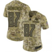 Wholesale Cheap Nike Buccaneers #87 Rob Gronkowski Camo Women's Stitched NFL Limited 2018 Salute To Service Jersey